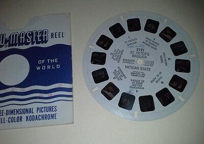 1940s Sawyers Viewmaster 3D Stereo 2721 reel Riviera St Peter's Basilica photos