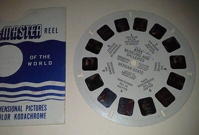 1940s Sawyers Viewmaster 3D Stereo 2723 reel Museums Vatican State photos