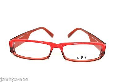 NEW OGI OPTICAL FRAMES MODEL 3054 IN RED BROWN LAST TWO! 53-15-135 Larger size