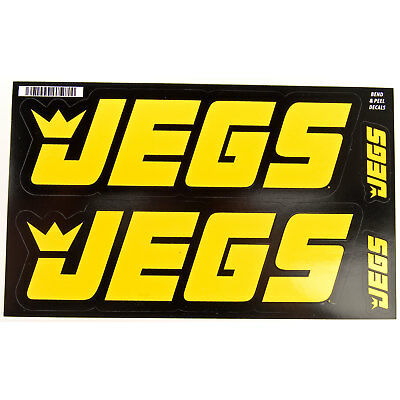 "JEGS 100 JEGS Contingency Size Racing Decals Large: 2-3/4"" h x 8-3/4"" w"