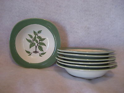 """Taylor Smith Taylor """"Coffee Tree"""" - FRUIT DESSERT BERRY BOWLS - SET of (7)"""