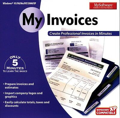MySoftWare My Invoices My Software Brand New Sealed Fast Shipping