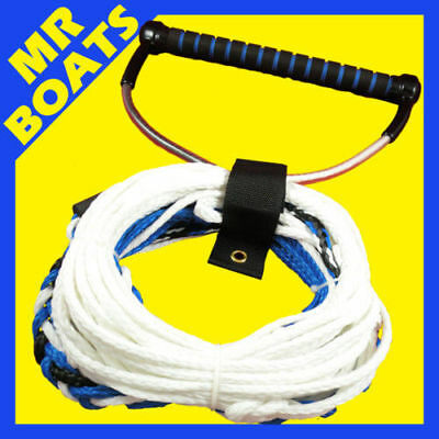 PROFESSIONAL WATER SKI WAKEBOARD ROPE - ✱ 15 Inch EXTRA WIDE EVA HANDLE ✱ NEW