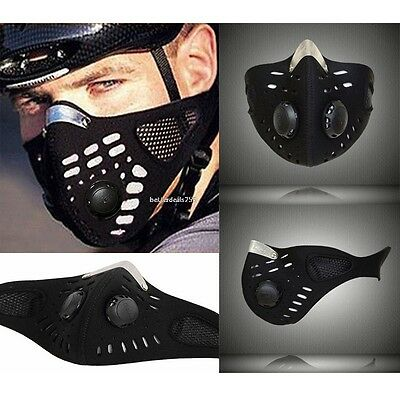 Neoprene Anti-Dust Motorcycle Bicycle Cycling Ski Outdoor Half Face Mask Filter#