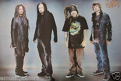 """KORN """"GROUP STANDING APART FROM EACH OTHER"""" ASIAN POSTER - Alt Metal Music"""