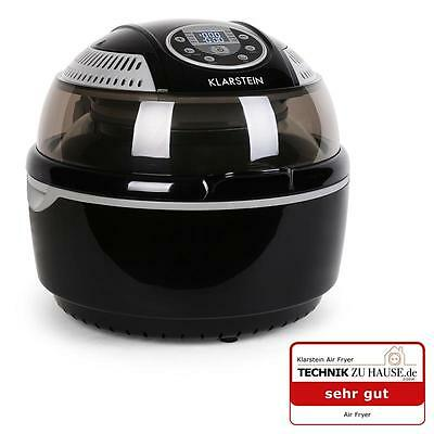 Black 1400W Fat Oil Free Hot Air Fryer Airfryer 9L Electric Halogen Oven Kitchen
