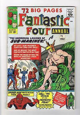 Fantastic Four Annual # 1  Legions of Submariner grade 4.5 scarce hot book !!