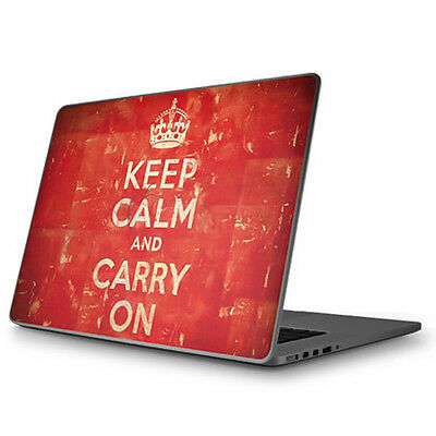 Keep Calm and Carry On Distressed Apple MacBook Pro 15 Skin