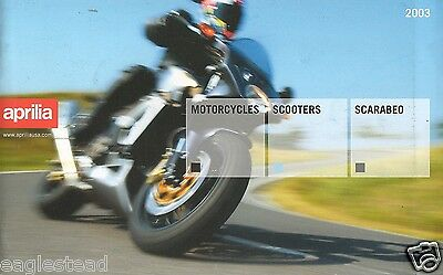 Motorcycle Brochure - Aprilia - Motorcycle Scooter Scarabeo 2003 (DC98)