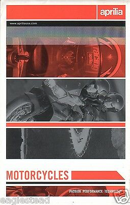 Motorcycle Brochure - Aprilia - Product Line Overview incl Bike Scooter (DC100)
