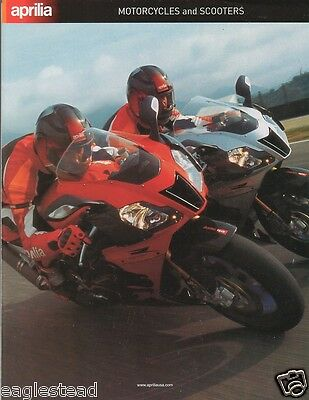 Motorcycle Brochure - Aprilia - Product Line Overview incl Scooter c2005 (DC102)