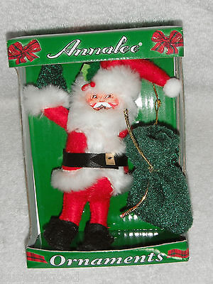 ANNALEE SANTA CHRISTMAS ORNAMENT NEW IN BOX
