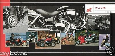 Motorcycle Brochure - Honda - Product Line Overview incl ATV Scooter 2002 (DC116