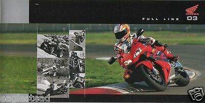 Motorcycle Brochure - Honda - Product Line Overview incl ATV Scooter 2003 (DC117