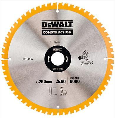 Dewalt Dt1182 Mitre Saw Blade 254Mm X 30Mm Bore 60 Tooth
