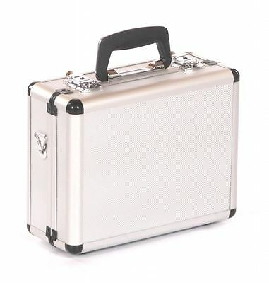 Crystal aluminium hard camera photography flight carry case storage box silver
