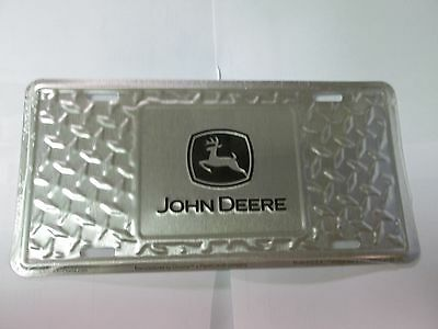 John Deere Diamond Plate Stamped Vanity Plate For Cars Or Trucks Great Gift! 9ed8a2ebe5b