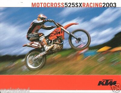 Motorcycle Brochure - KTM - 525SX - Motocross Racing - 2003  (DC132)
