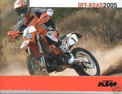 Motorcycle Brochure - KTM - Off-Road Models - 2005 (DC136)