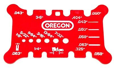 OREGON Chainsaw (Chain Saw) Bar & Chain Pitch, Gauge, File Measuring Tool 556418