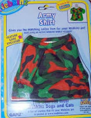 WeBkiNZ Army Shirt Top T-Shirt Brand New in Original Package with Sealed Code