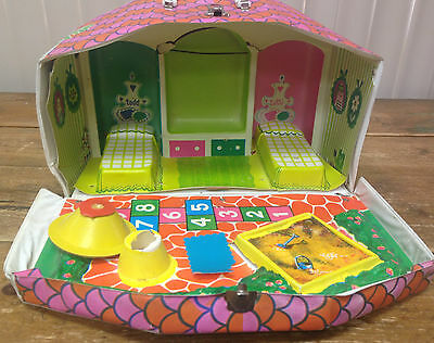 Barbie Mattel Tutti and Todd House Carrying Case Twin Sister Brother MOD As Is