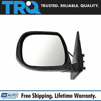 For Toyota 08-13 Highlander Glossy Black Power Heated 5 Pin Driver Side Mirror