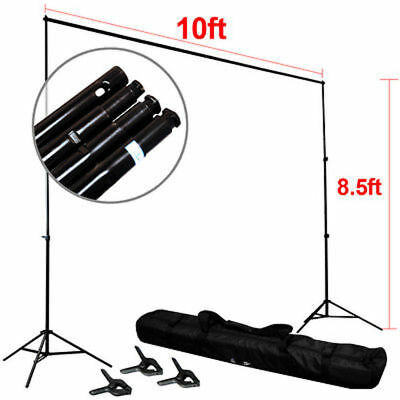 "Heavy Duty 8.5 x 10 ft Photography Background Support Stand Premium 1.4"" System"
