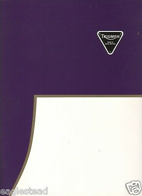 Motorcycle Brochure - Triumph - Product Line Overview - Elaborate c1995 (DC177)