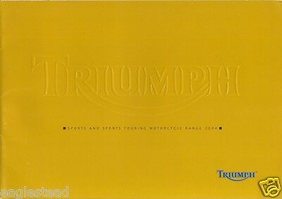 Motorcycle Brochure - Triumph - Sports / Sports Touring Models - 2004 (DC183)