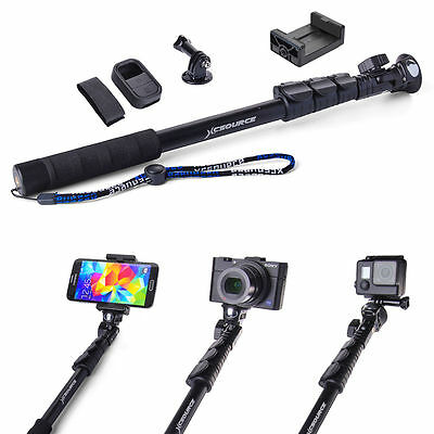 Handheld Monopod Extendable Selfie Stick Wifi Remote Case for GoPro 3 3+ 4 DC558