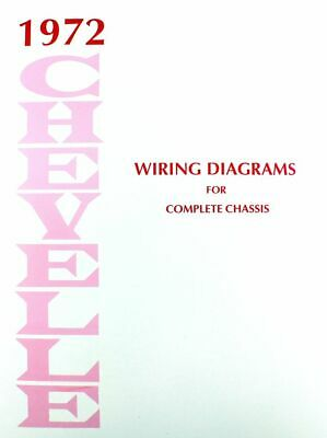 72 1972 Chevy Impala Electrical Wiring Diagram Manual 7 99 Picclick