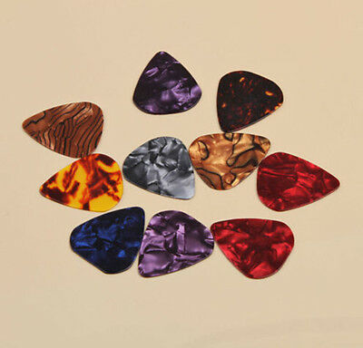 Hot Sale Electric Guitar Bass Picks Colorful Celluloid Acoustic Plectrums 0.46mm