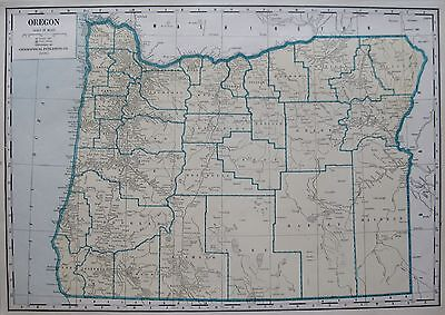 1946 Antique OREGON Map Rare Size Original Map of Oregon State Map 14 x 21