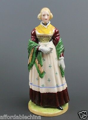 Nymphenburg Signed Porcelain Figurine of Woman Holding Bible