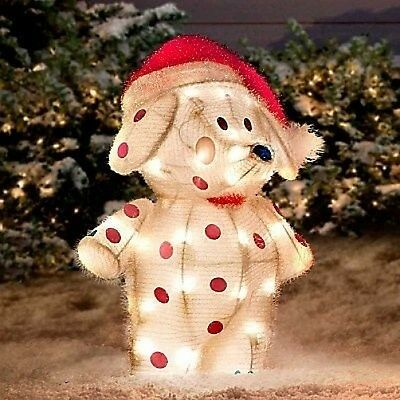 "Rudolph Misfit Elephant 19"" 3-D Tinsel Outdoor Christmas Decoration Yard Art"