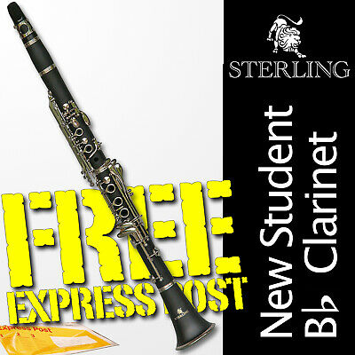 Bb Black and 24K Gold Clarinet • Boehm 17 keys • STERLING • With Case • NEW •