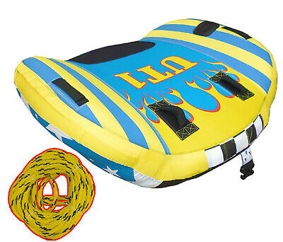 "SKI TUBE + TOW ROPE 1 Person * UT-1 WINGS * Quality Ski Biscuit 58"" 147cm1 Rider"