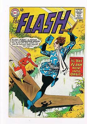 Flash # 148 The Day Flash Went Into Orbit! grade - 4.5 scarce hot book !