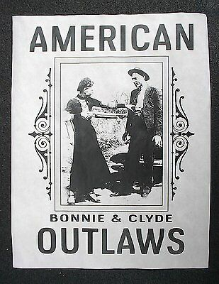 """(793L) GANGSTER BONNIE CLYDE AMERICAN OUTLAWS BANK CRIME NOVELTY POSTER 11""""x14"""""""