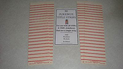78 rpm Jukebox Blank Title Strips 100 Strips Jukebox Labels Perforated