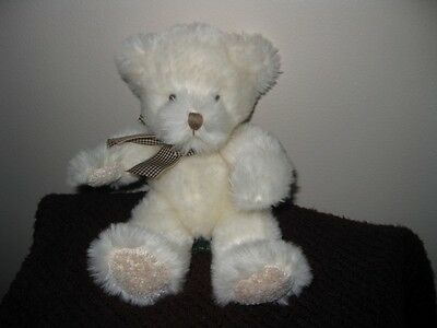 "RUSS BEAR;  ""LILLIAN "" ~ WHITE~CREAM ~ 9 ""~PLUSH ~ RETIRED ~EXCELLENT CONDITION"