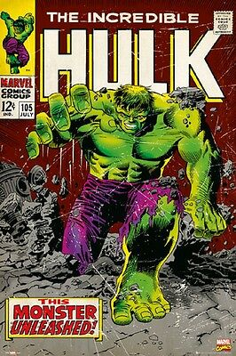 Marvel The Hulk Poster - Comic Cover Art size 24x36