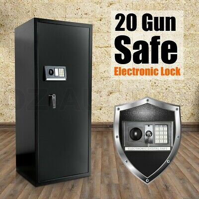20 Gun Safe Firearm Rifle Storage Lockbox Steel Cabinet Heavy Duty Electronic