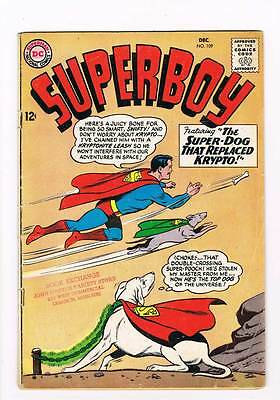 Superboy # 109 The Super-Youth of Brozz! grade 5.0 DC Silver Age !