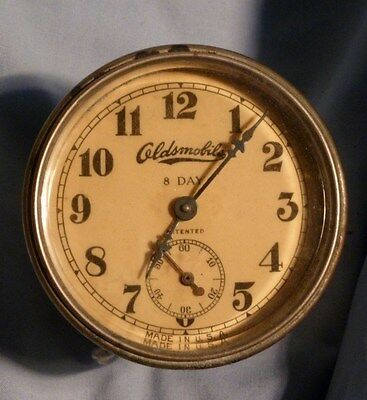 1910s 1913 1914 1915? Antique original Oldsmobile 8 day Clock street hot rat rod