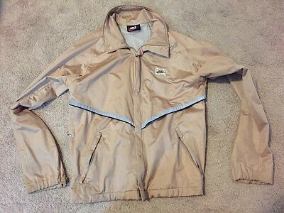 VINTAGE 1970's 1980's NIKE sand color reflecting zip-up JACKET RARE ADULT size