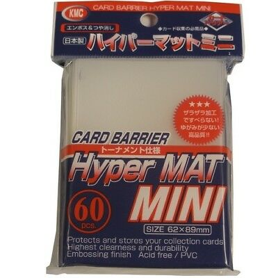 Kmc 60 Small Yugioh Card Barrier Sleeves Deck Protectors - Mini Hyper Mat Clear