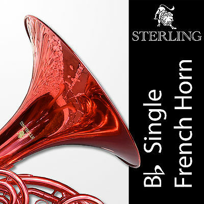 RED • Bb Single Sterling FRENCH HORN • Highest Quality • BRAND NEW • With Case •