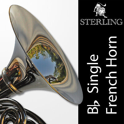 BLACK • Bb Single STERLING FRENCH HORN • Pro Quality • Brand New • Backpack Case